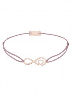 MOMENTOSS 21203888 Armband Filo Infinity-Herz Rose rosa-braun 25 cm