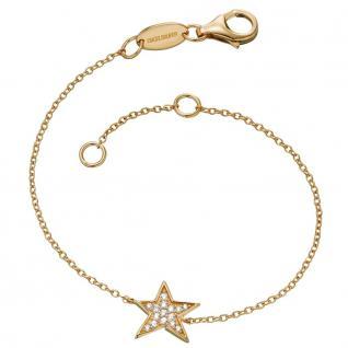 Engelsrufer ERB-LILSTAR-ZI-G Damen Armband Stern Gold Weiß 17, 5 cm