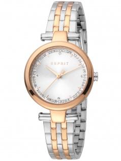 Esprit ES1L203M0105 Cherry Silver Rosegold Uhr Damenuhr Datum bicolor