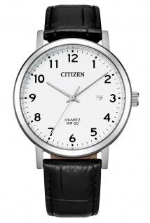 Citizen BI5070-06A Uhr Herrenuhr Lederarmband Datum schwarz