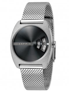 Esprit ES1L036M0065 Disc Black Silver Mesh Damenuhr Edelstahl Silber