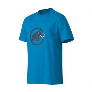 Mammut Herren Kurzarm Mammut Logo T-Shirt Men Blau Freizeitshirt L