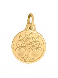 Basic Gold 17299 Damen Anhänger Lebensbaum 14 Karat (585) Gelbgold