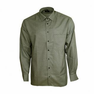 Eterna Herrenhemd Langarm Comfort Fit Grau Strukturiert Hemd XL/43