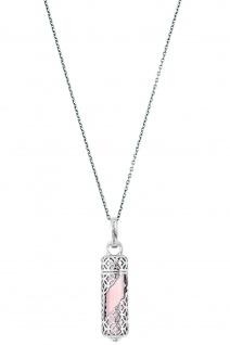 Engelsrufer ERN-HEAL-RQ-M Damen Collier Powerful Stone M Rosa 60 cm