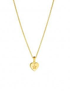 Prinzessin Lillifee 2029680 Mädchen Collier Herz Gold Weiß 38 cm