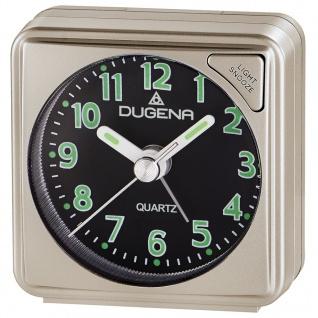 DUGENA 4460614 Wecker Analog Licht Alarm gold