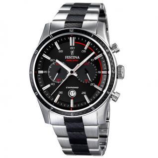 FESTINA F16819/3 SPORT Chronograph Uhr Herrenuhr Edelstahl silber