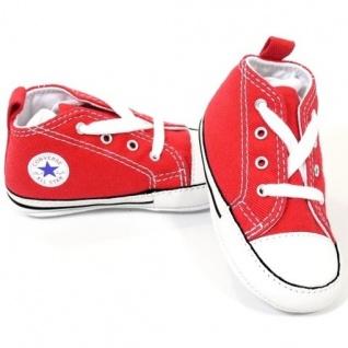 Converse Kinder Schuhe Chucks First Star Rot 88875 Größe 17 - Vorschau 1