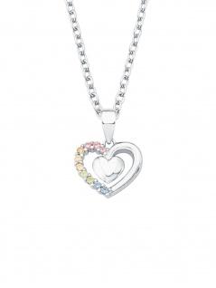 Prinzessin Lillifee 2024377 Mädchen Collier Herz Silber Rosa 38 cm