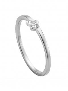 Esprit ESRG00531317 Damen Ring Play Silber Weiß 53 (16.9)