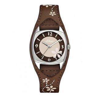 s.Oliver SO-1561-LQ Uhr Damenuhr Lederarmband Braun