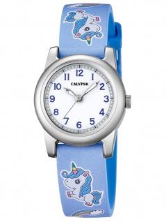 Calypso K5713/D Einhorn Uhr Mädchen Kinderuhr Kunststoff blau
