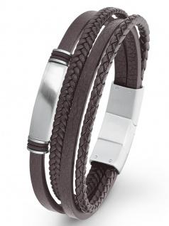 s.Oliver 2022621 Herren Armband Edelstahl Silber 21, 5 cm