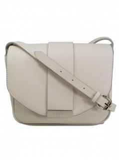 Esprit Damen Handtasche Tasche Schultertasche Carmen shoulderbag Weiß