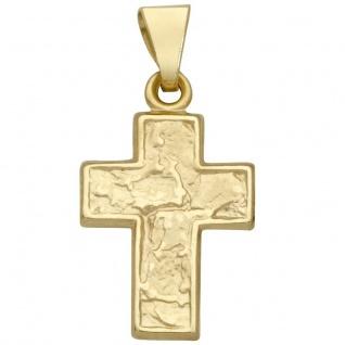 Basic Gold K35 Kinder Anhänger Kreuz 14 Karat (585) Gelbgold