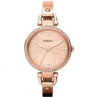 Fossil ES3226 Georgia Uhr Damenuhr Strass weiß