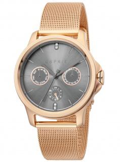 Esprit ES1L145M0095 Turn Gun Rosegold Uhr Damenuhr Datum rose