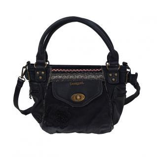 Desigual Bols McBee Mini Blackout Schwarz Damen Hand Schulter Tasche