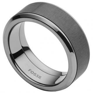 Fossil JF02368 Herren Ring Edelstahl Grau 63 (20.1)
