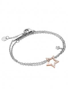 Esprit ESBR00451317 Damen Armband Vivid Star Bicolor Rose Weiß 21 cm