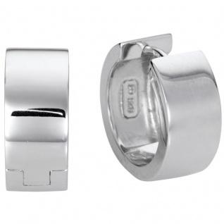 Basic Silber Damen SCR16 Creolen Silber Ohrschmuck