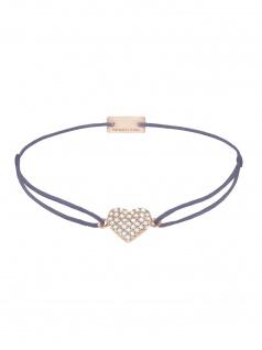 MOMENTOSS 21203631 Armband Filo Herz Pavé Rose grau-lila 26 cm