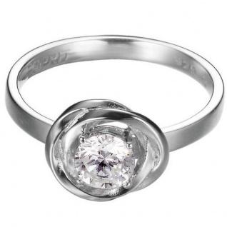 Esprit ESRG92316A Damen Ring solotwist Silber 925 weiß 56 (17.8)