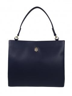 Tommy Hilfiger Damen Handtasche Tasche TH Modern Satchel Blau