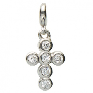 Basic Silber 22.VX099.W Damen Charms Kreuz Silber Zirkonia weiß