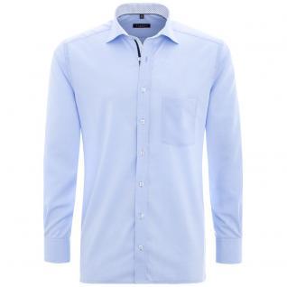Eterna Herrenhemd Langarm Comfort Fit Blau XXXXL/50 Hemd 8501/10/E37R