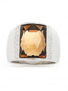 Leonardo 016666 Damen Ring Antares Edelstahl Silber Weiß 60 (19.1)