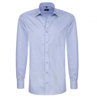Eterna Hemd Langarm Modern Fit Blau-Weiß Gr. XXL/45 4610/10/X177