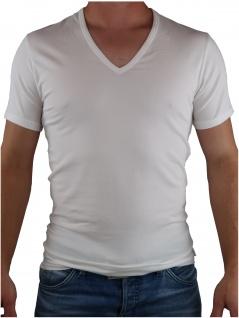 Calvin Klein Herren T-Shirt Kurzarm 2er Pack S/S V Neck Weiß S