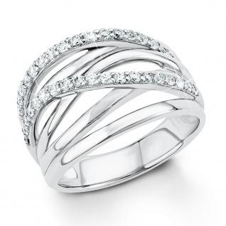 s.Oliver 9031573 Damen Ring Sterling-Silber 925 Silber Weiß 54 (17.2)