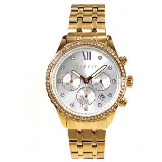 Esprit ES108732002 Chronograph Uhr Damenuhr Edelstahl Datum rose