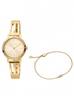 Esprit ES1L182M0055 Lorella Gold Set Uhr mit Armband Uhr Damenuhr gold
