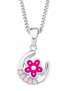 Prinzessin Lillifee 2021029 Mädchen Collier Blume Silber Rosa 38 cm