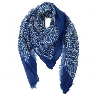 Pieces Schal JAUNIE Scarf Blau-Beige 17063696 Stola Tuch 124 cm