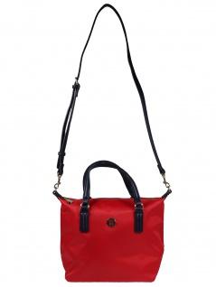 Tommy Hilfiger Damen Handtasche Tasche Henkeltasche Poppy S Tote Rot