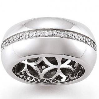 GOOIX 943-3360 Damen Ring Silber Zirkonia weiß Größe 58 (18, 5 mm)