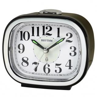 RHYTHM CRA849NR02 Glockenwecker Uhr Alarm Weiss