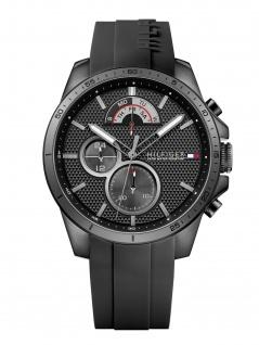 Tommy Hilfiger 1791352 DECKE Uhr Herrenuhr Kautschuk Datum schwarz