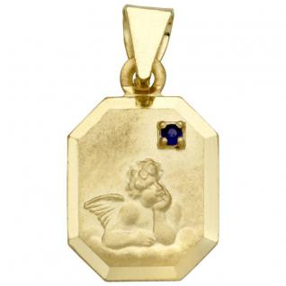 Basic Gold EN11 Kinder Anhänger Schutzengel 14 Karat (585) Gold - Vorschau 1
