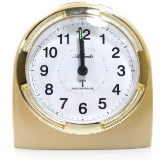 Atlanta 1404-9 Funk Wecker Analog Licht Alarm weiss gold
