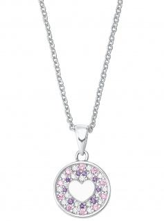 Prinzessin Lillifee 2027220 Mädchen Collier Herz 925 Silber rosa 38 cm