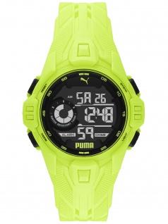 PUMA P5041 Uhr Herrenuhr Plastik Datum Alarm gelb