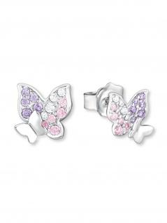 Prinzessin Lillifee 2021063 Ohrstecker Schmetterling Silber Rosa