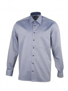 Eterna Herren Hemd Langarm Comfort Fit 3118/18/E14E Blau XL/43