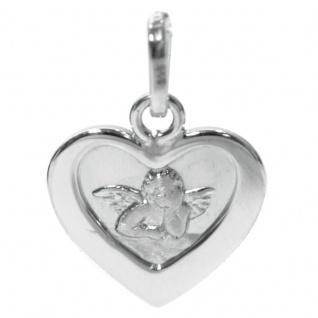 Basic Silber STG11 Kinder Anhänger Schutzengel Herz Silber